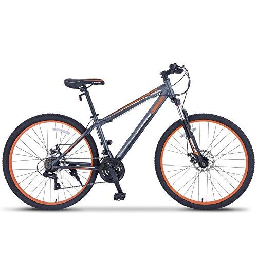 "ORKAN 27.5"" MTB Shimano Hybrid 21 Speed Mountain Bike Mountain Bike Grey & Orange"