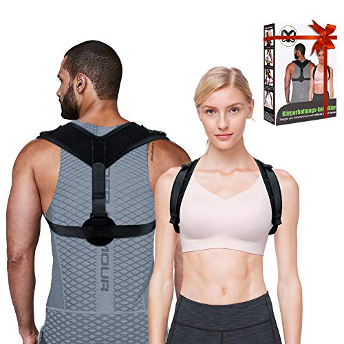 Posture Corrector for Men Women - Adjustable Upper Back Brace Straightener -...