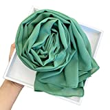 SANGHAI Women Scarf Solid Color Chiffon Hijab Head Scarf Muslim Malaysian Long Shawl Wrap Bandana N