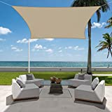 Jneaicn Tende da Sole per Esterno Vela Ombreggiante Colore Sabbia 3×4m Vela da Giardino per Giardino Terrazza Tenda da Campeggio e Protezione UV(Colore Sabbia)