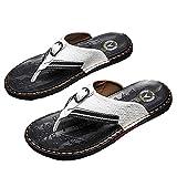 Zapatillas de estar por casa para hombre, moda de verano, ropa exterior, chanclas para hombre, Blanco, 41 EU
