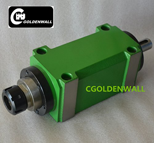 Check Out This CGOLDENWALL ER32 Collet Chuck 750W 0.75KW 1hp Power Head Power Unit Cutting/Boring/Milling machine Tool Spindle (Lengthen models For Drilling (3000RPM))