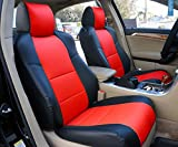 Iggee Acura TL (Not Type-S) 2004-2008 Black/RED Artificial Leather Custom Made Original fit 2 Front seat Covers