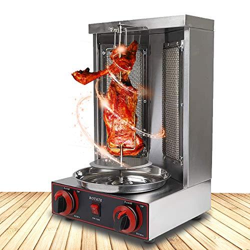 4YANG Machine de Gril de Barbecue Machine à Kebab au Propane Doner Chauffage Rotatif à...
