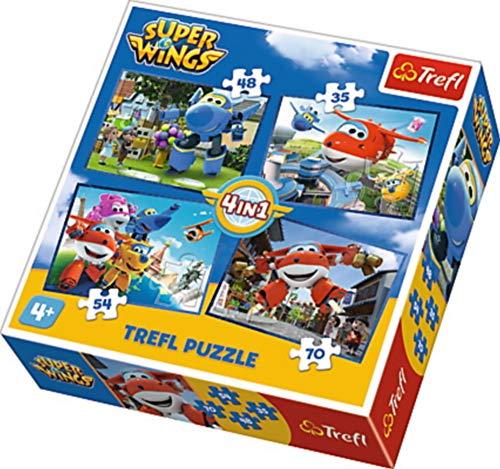 Puzzle Super Wings Odlotowa paczka 4 w 1