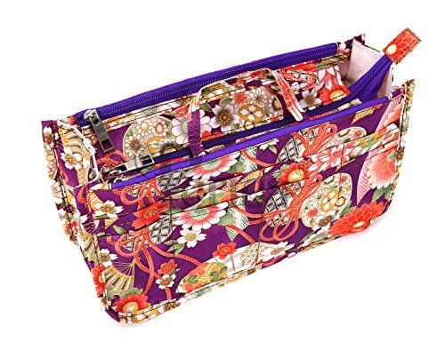 Periea Handtaschen-Organizer, 15 Fächer - 11 Farben Erhältlich - Klein, Mittel oder Groß - Daisy (Lilane Blumen, Mittel)