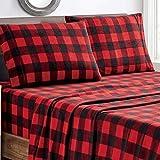 Plush Micro Fleece Bed Sheet Set, Extra Warm Polar Fleece 4 Pcs Winter Bed Sheets with Deep Pocket, Rdbuch, Full