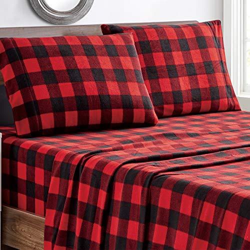 Viviland Plush Micro Fleece Bed Sheet Set, Extra...