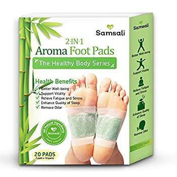 Samsali Foot Pads Upgraded 2 in 1 Nature Foot Pads Rapid Foot Care and Pain Relief Higher Efficiency than Foot Sleeve and Metatarsal Pads Best Foot Pads for Foot Care 20 Pads