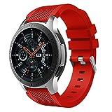 Aimtel compatibile Samsung Galaxy 46mm Cinturino, 22mm morbido silicone sport Band cinturino di ricambio Quick Release pin compatibile Samsung Galaxy orologio SM-R800/R805 Smart Watch (rosso)