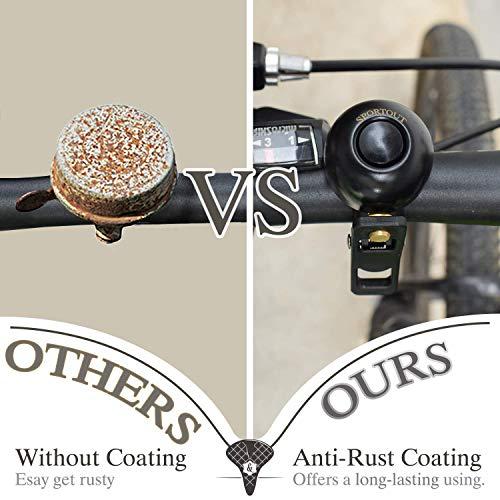 Sportout Kupferlegierung Fahrradklingel, Klassische Fahrradklingel, Lautstarker Fahrradring für Rennrad, Mountainbike, Citybike, Sportbike, Kinderfahrrad, Cruiser Bike, BMX Bike - 5
