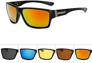 SGJFZD Sports Polarized Sunglasses Men Aluminum Magnesium Outdoor Riding Glasses Windshield Sunglasses for Mens (Color : Orange)