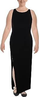 Aidan Mattox Womens Criss Cross Vented Evening Dress