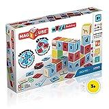 Geomag Magicube Word Building 084 - 16 Cubos magnéticos y 63 Clips magnético - Construcciones magnéticas y Juegos educativos, Multicolor, 79 Piezas
