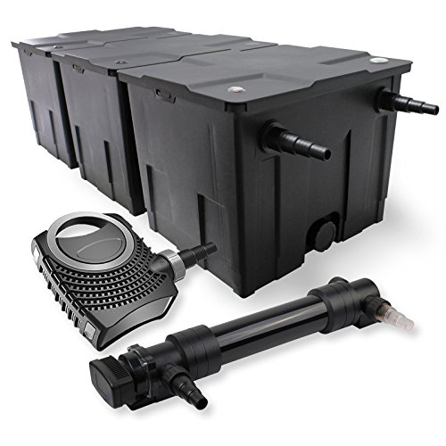SunSun 3-Kammer Filter Set 90000l 36W UVC 6er Teich Klärer NEO10000 80W Pumpe