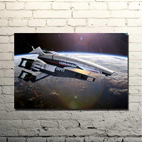 jiuyangshengong Popist-Mass Effect Shooting Action Game Art Póster De Seda Cuadro De Pared De Dormitorio Impreso (50X70Cm) Sin Marco