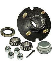 Remolque Hub–Kit 4pernos de 4pulgadas círculo–1pulgadas I.D. Rodamientos