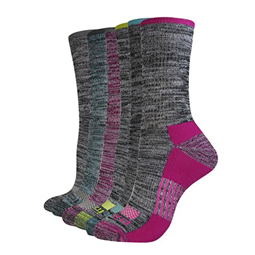 Chaussettes Dickies Dritech Advanced Moisture Wicking Crew pour femmes (6/12 paquets), Thermal Grey (6 paires), pointure: 6-9