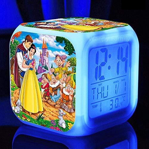 FPRW Prachtige wekker voor meisjes met 7 kleuren, digitale wekker met LED-verlichting, cadeau voor kinderen, type 15