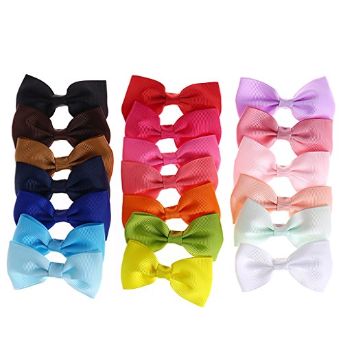 Pcs Lot de 20 nœuds à cheveux pour fille Boutique Alligator Clip Grosgrain Ribbon Bowknot