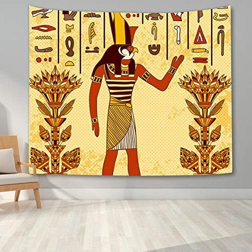 Tapiz egipcio colgante de pared mitología egipcia antigua tapiz dormitorio estética murales sala de estar tapices universitarios