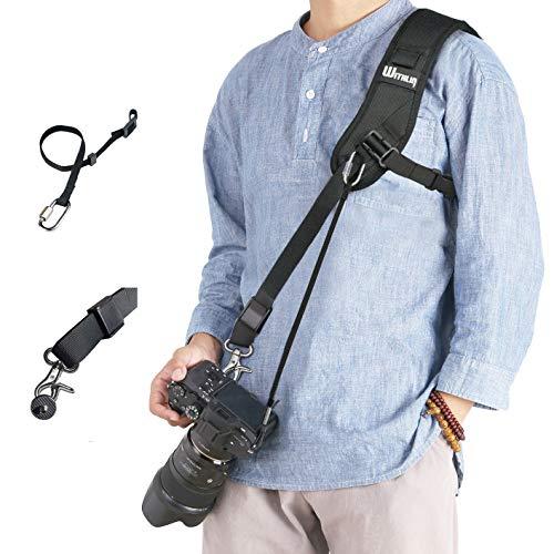 WITHLIN alargadas Profesional Set fotografía - ampliada Bandolera con Cadena de Seguridad para cámaras SLR réflex Digital (Canon Nikon Sony Olympus Pentax, etc) …