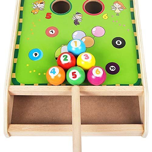 Yifuty Mini Billardtisch, Ball Puzzle Elastizität, frühe Bildung for Jungen und Mädchen-Geschenke, Entwicklung der Kreativität zur Verbesserung logisches Denken, 3 Jahre alt +