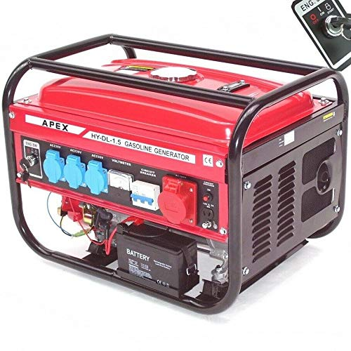 Elektro-Start Benzin Stromerzeuger 9500E Generator 230V 400V 66265 Stromaggregat AWZ