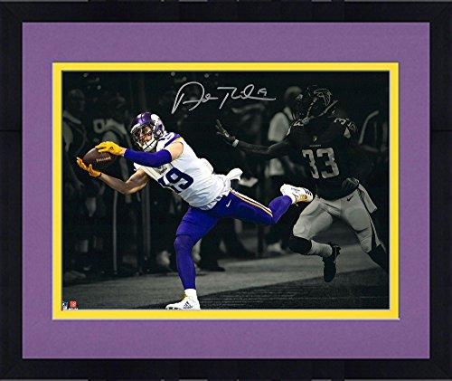 "Framed Adam Thielen Minnesota Vikings Autographed 11"" x 14"" Spotlight Photograph - Autographed NFL Photos"