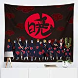 Naruto Tapestry Wall Hanging Anime Tapestry for Bedroom aesthetic Decor Shippuden Itachi Posters for Walls Backdrop Gifts for Boys Birthday Party (NT004)