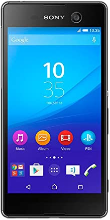 "Sony E5653 Xperia M5 Single-Negro Smartphone 5"", Cámara 21.2 Mp, 16 GB, 3 GB RAM, Android v5.0.1 Lollipop, color Negro. Versión Internacional"