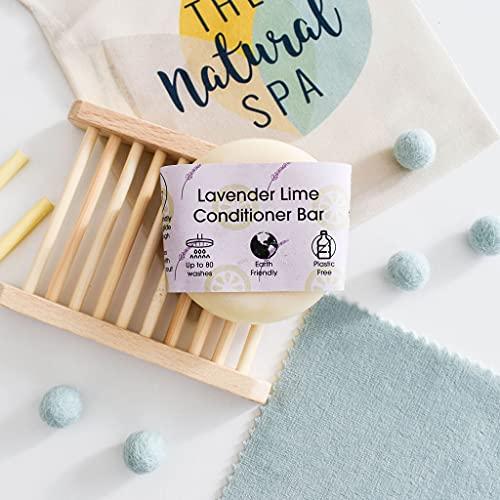Plastic Free Conditioner Bar - Lavender and Lime - Zero waste Hair Care Handmade In Devon, Uk (1...