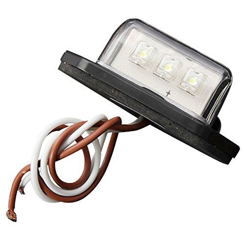 REFURBISHHOUSE 12 / 24V 3 LEDs Lampe pour Plaque D'IMMATRICULATION de Bateau RV Camion REMORQUE
