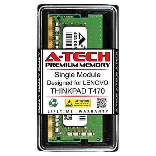 A-Tech 4GB RAM for Lenovo THINKPAD T470 | DDR4 2400MHz SODIMM PC4-19200 260-Pin Non-ECC Memory Upgrade Module