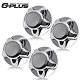 4PCS Set Chrome Wheel Hub Center Caps Cover Replacement With 7' Cap Compatible For Ford F150 Expedition 1997 1998 1999 2000 2001 2002 2003