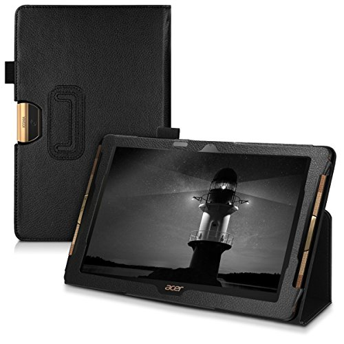 kwmobile Acer Iconia One 10 (B3-A40) Hülle - Tablet Cover Case Schutzhülle für Acer Iconia One 10 (B3-A40) - Schwarz mit Ständer