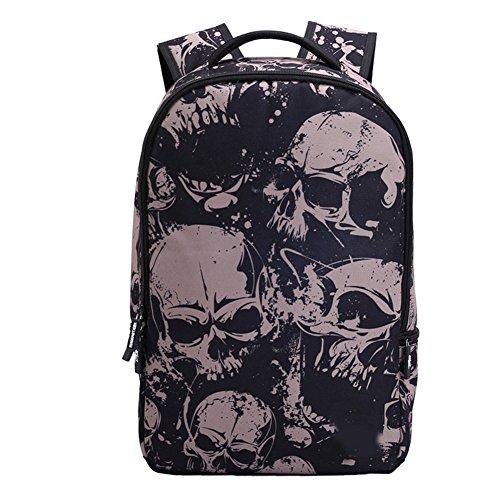Skull School Backpack 22L Bag High Middle Bookbag for Men Women Boys Girls