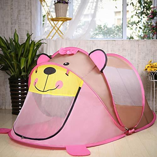 JINGBU niños pop up carpas de juguete interior y al aire libre tienda de juegos bebé casa de peluche oso perro peluche niños escalada tienda plegable piscina