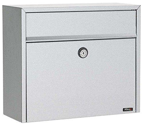 Qualarc ALX-LT150-GAL Allux Series LT150 Galvanized Wall or Post Mount Front Loading Locking Steel Mailbox