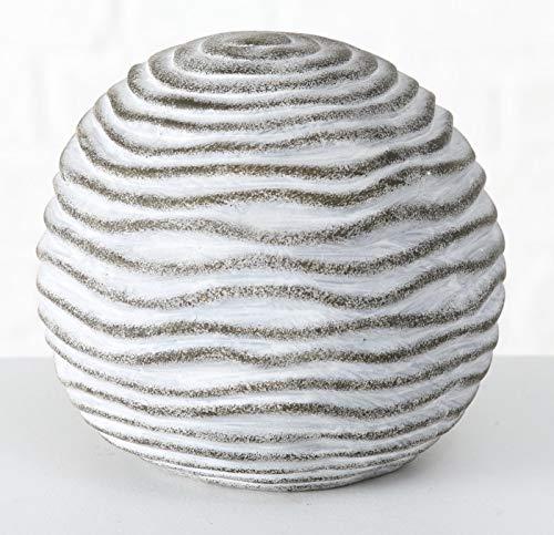 Homestyle & more Rosina Boule à vagues en terre cuite Gris