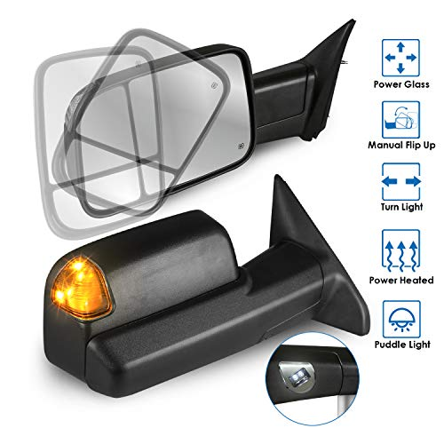 Best Review Of MOSTPLUS Power Heated Mirror For 2009-2012 Ram 1500 2500 3500 w/Turn Light, Puddle Li...