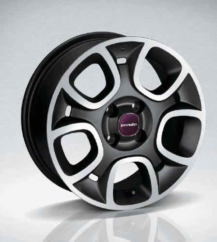 'Fiat New Llantas de metal ligero Panda 15/llantas/–Juego de llantas Llanta Juego con buje Tapa Color Morado Pastel