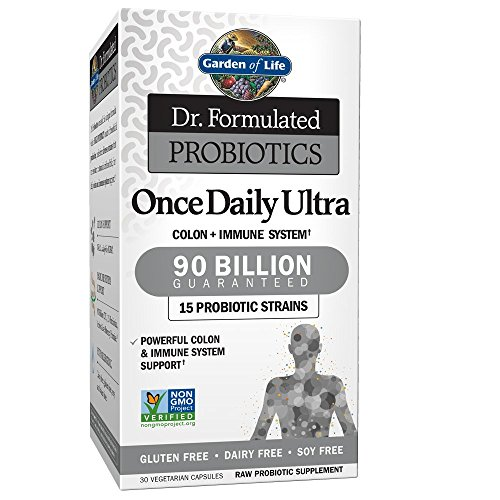 Garden of Life Dr. Formulated Adult Probiotics Once Daily Ultra - Acidophilus Probiotic Supports Colon, Digestion, Immune System - Gluten, Soy-Free, Non-GMO - 30 Vegetarian Capsules (Shipped Cold)