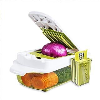 GWFVA Hachoirs à légumes et oignons, 7 en 1 Mandoline Slicer Food Dicer Légumes Julienne Slicer Râpe Shredder Veggie Slice...