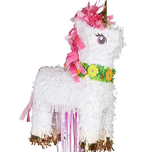 Amscan P19733 Magical Unicorn Pull Pinata, Assorted Colors