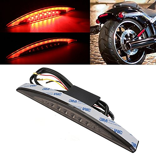 22 LED Rear Fender Tip Brake Running Stop Tail Light For Harley Breakout EFI FXSB CVO 2013-2017 (Smoke)