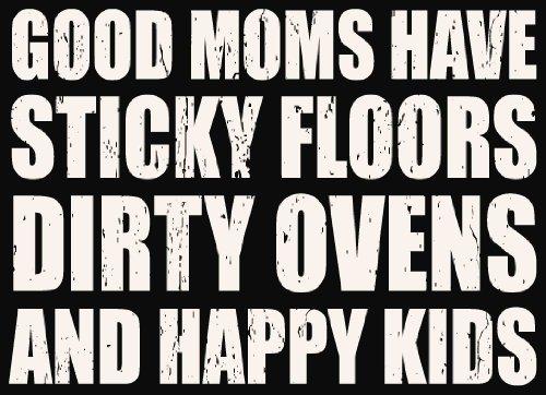Sixtrees Good Moms Have Box - Targa da 15 x 18 cm