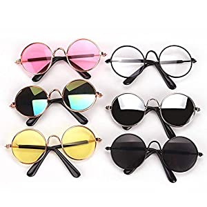 Brand new and high quality. Material: plastic. Modeling category: doll costume. A pair of cute round frame glasses, suitable for 18-inch American girl doll. Many colors can be selected. A great collection of your favorite dolls.