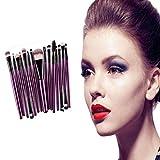 Juego de brochas de maquillaje, Yonlanclot 15 piezas/juegos de sombra de ojos base cejas labios cepillo de maquillaje herramienta