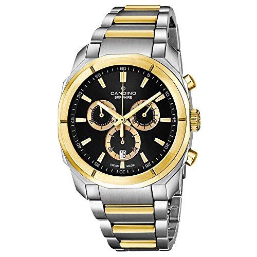 Candino Armbanduhr Herren C4583/2 Elegant Analog Edelstahl Uhr Silber D2UC4583/2 EIN Geschenk zu Weihnachten, Geburtstag, Valentinstag für den Mann